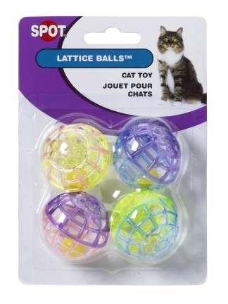 4 Gekleurde plastic balletjes