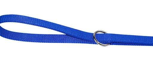 Dubbele nylon dresseerlijn blauw 25mmx200cm