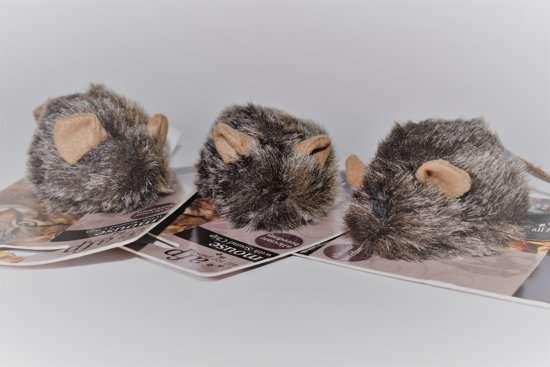 Piepmuis -7cm -bruin- kattenspeeltjes