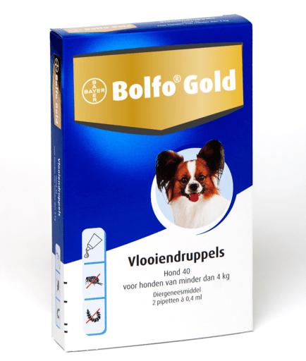 Bolfo Gold hond 40 (2 pipet) tot 4 kilo