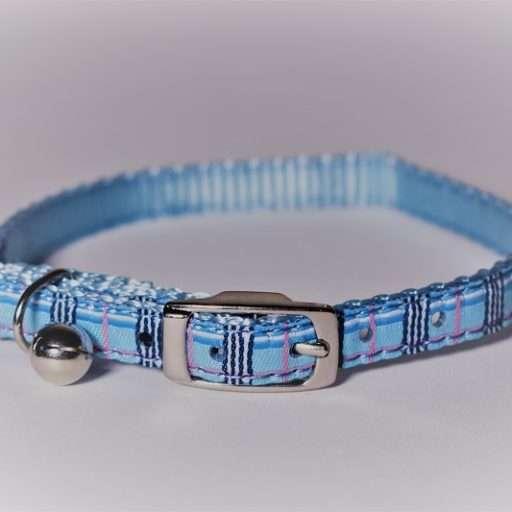 Kattenhalsbandje burberry blauw