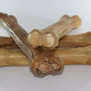 Buffelhuid- geperst bot -31 cm- 6 stuks-hondenbotten