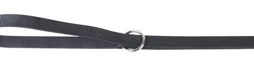 Dubbele nylon dresseerlijn zwart 25mmx200cm