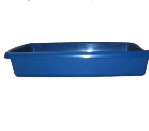 Kattenbak blauw 36,5 cm x 25 cm 6,5 cm diep