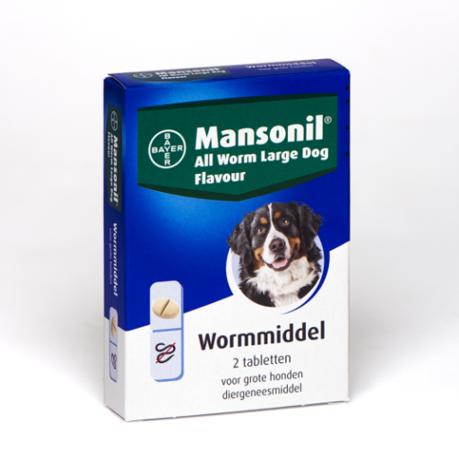 Mansonil all worm large dog flavour 2T