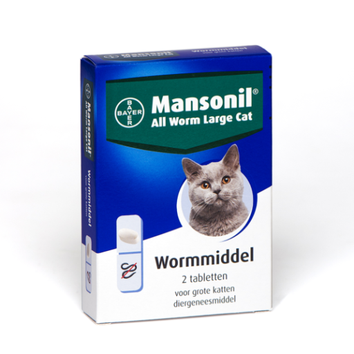 Mansonil all worm large cat 2T ellipsoid