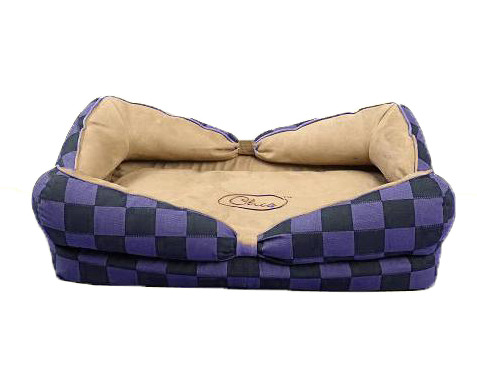 New Chic Bow Hondenmand Blauw Paars