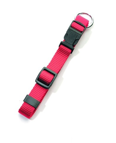 Halsband met Clicksluiting Rood Sportief Basic