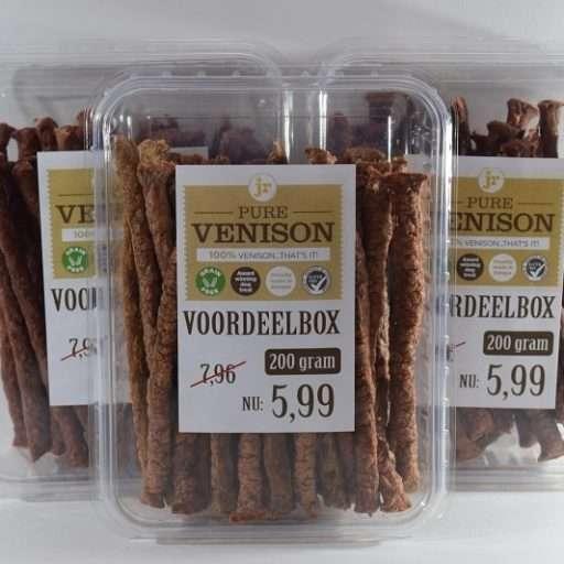 3 voordeelboxen pure sticks- hert - 3 x 200 gram-hondensnack
