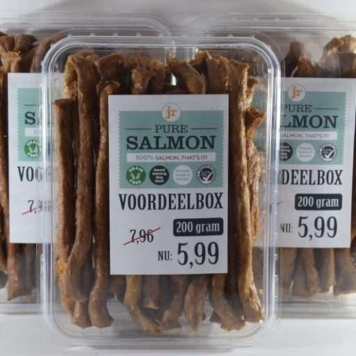 3 voordeelboxen pure sticks- zalm - 3 x 200 gram-hondensnack
