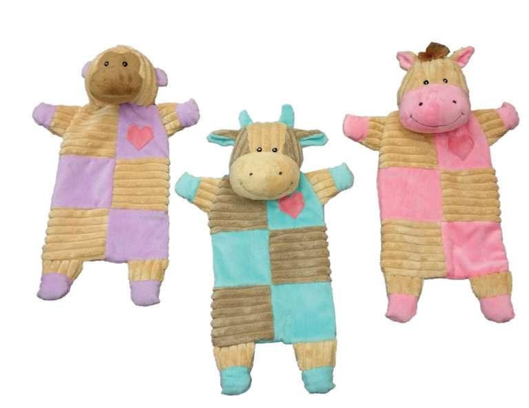 Crinkle toy- paars - 33cm - hondenspeeltje